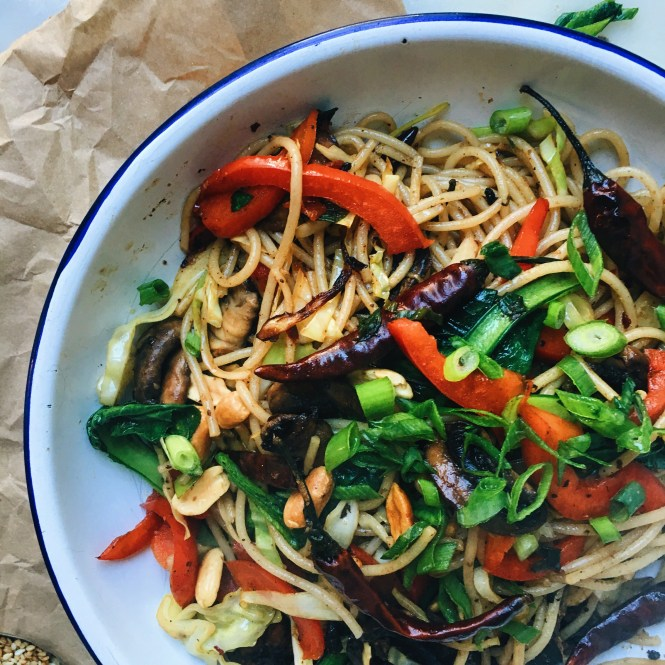 Kung pao mushrooms and noodles 3