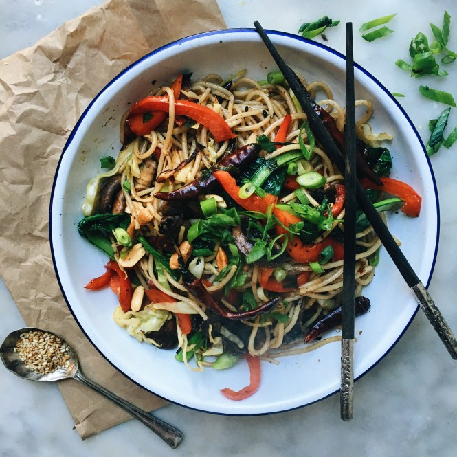 Kung pao mushrooms and noodles 4