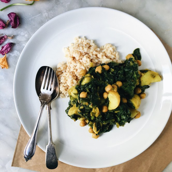 POTATO AND CHICKPEA SAAG CURRY 3