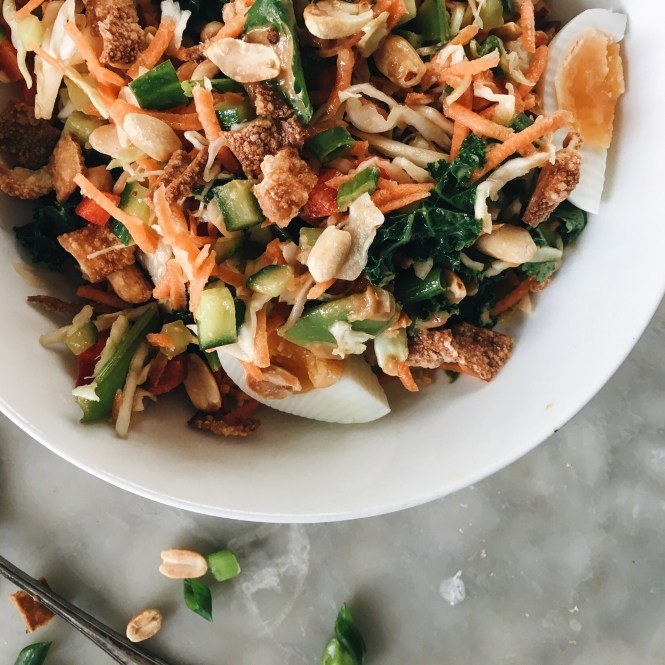 3 THAI CHOPPED SALAD WITH PEANUT AND LIME DRESSING