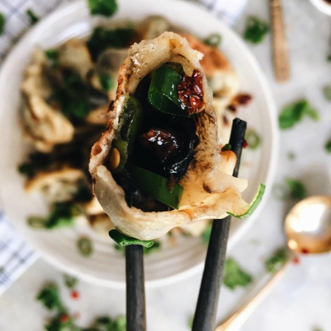 Mushroom and spring onion dumplings 5