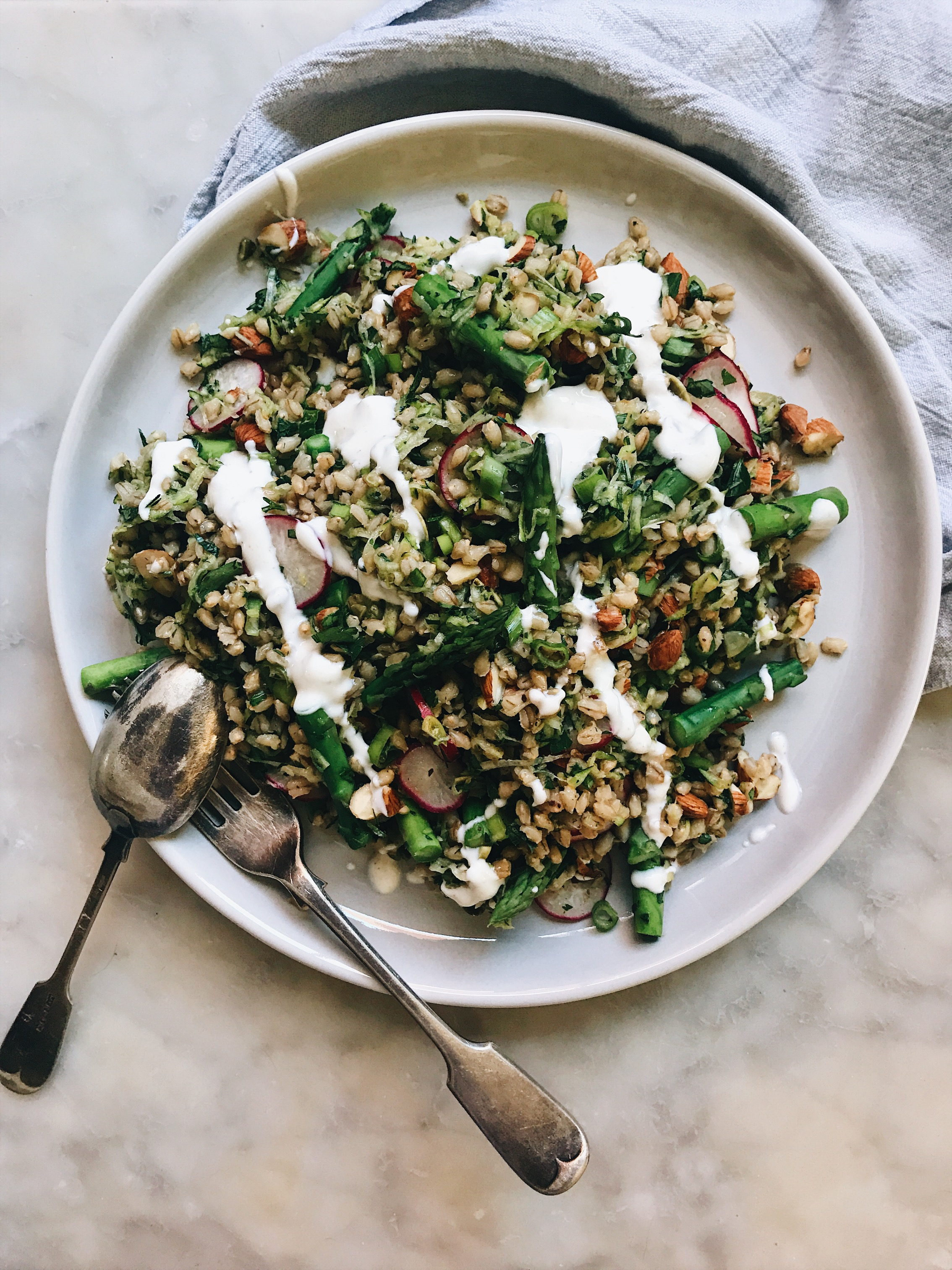 Barley Salad with Asparagus and Roasted Tomatoes photo