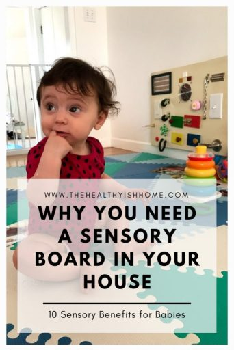 Children are constantly trying to challenge themselves to improve all of their development skills. They are also watching everything we do. A sensory board is an incredible tool to redirect young children to a controlled activity that helps their overall development. #sensoryboards #busyboard #sensoryactivity