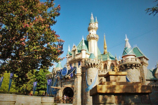Free 60th Anniversary Disneyland castle wallpaper