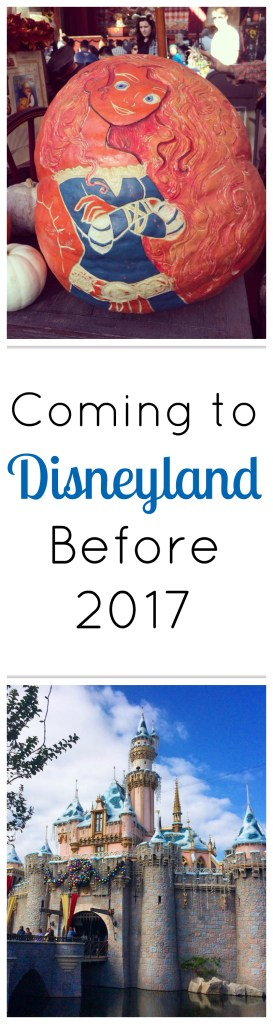 Coming to Disneyland Before 2017