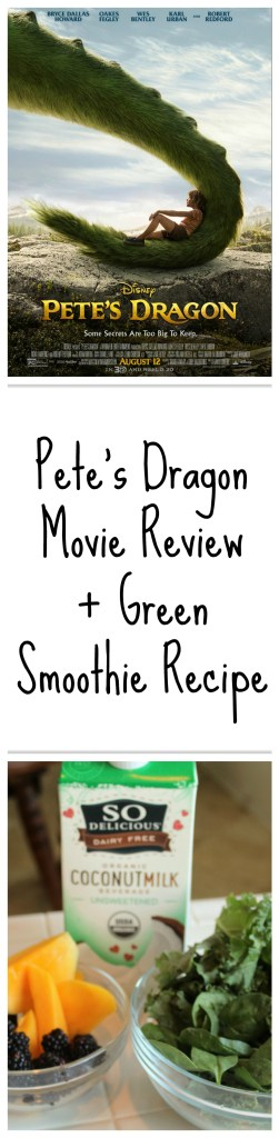 Movie review for Pete's Dragon, plus Pete's Green Dragon smoothie recipe!