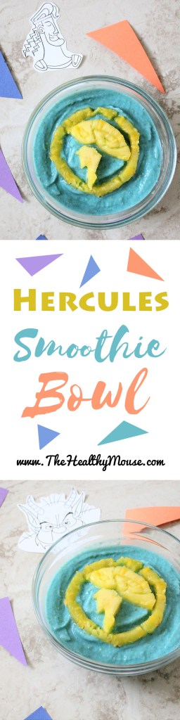 Celebrate Disney nineties style with this Hercules Smoothie Bowl! -Nineties Disney - Hercules Recipe - Disney Recipe - Vegan Disney - Disney Smoothie Bowl