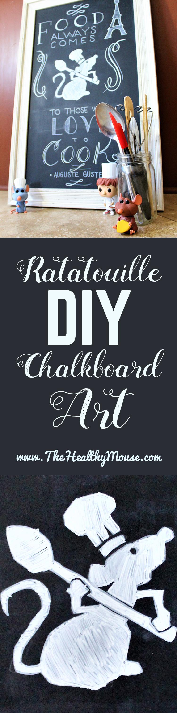 Ratatouille DIY Kitchen Chalkboard Art   Step By Step Drawing Tutorial