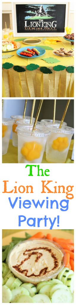 Have a Lion King inspired viewing party with these fun, simple, and healthy party ideas! - Lion King Party Ideas - Lion King Food