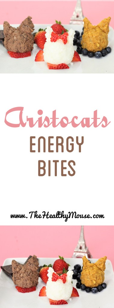 Aristocats energy bites! Disney inspired energy bites: Coconut energy bites, pumpkin energy bites, dark chocolate energy bites