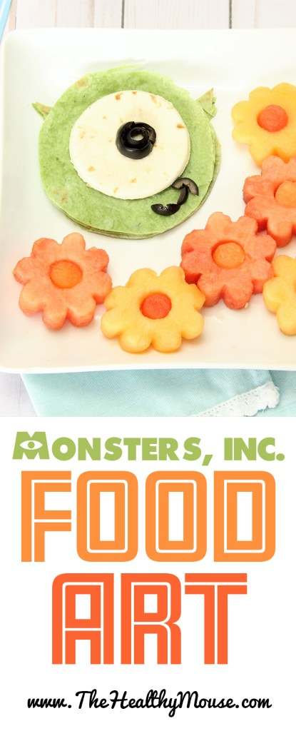 A healthy lunch of Monsters Inc inspired food art! Disney Food art