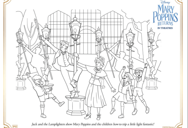 Mary Poppins Returns Coloring Pages and Activity Sheets - The