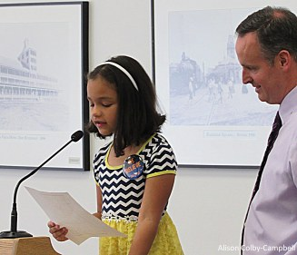 Letter writing winner Aulani Melendez from Tilton Elementary School