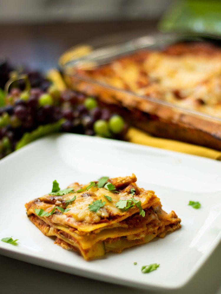 fresh homemade gluten-free and vegan lasagna