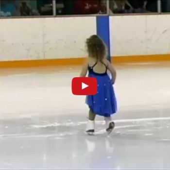 3 Year Old Girl Ice Skates To Twinkle Twinkle Little Star And Her Smile Is Infectious