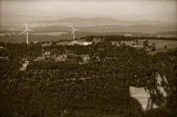 Au Nord vue de l'observatoire du Mont-Soleil
