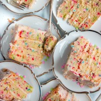 Layered Funfetti Cake with Vanilla Buttercream