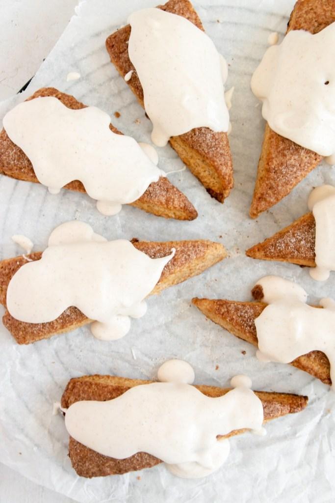 scones with glaze
