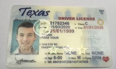 Scannable texas real id