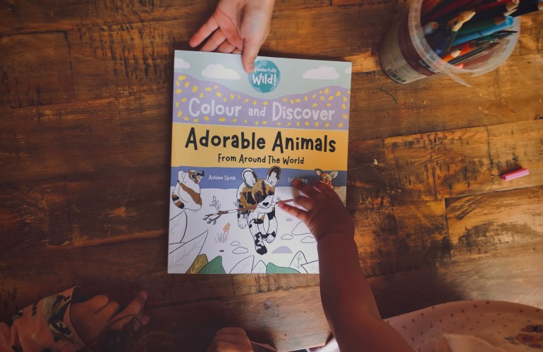 colouring book of adorable animals from around the world