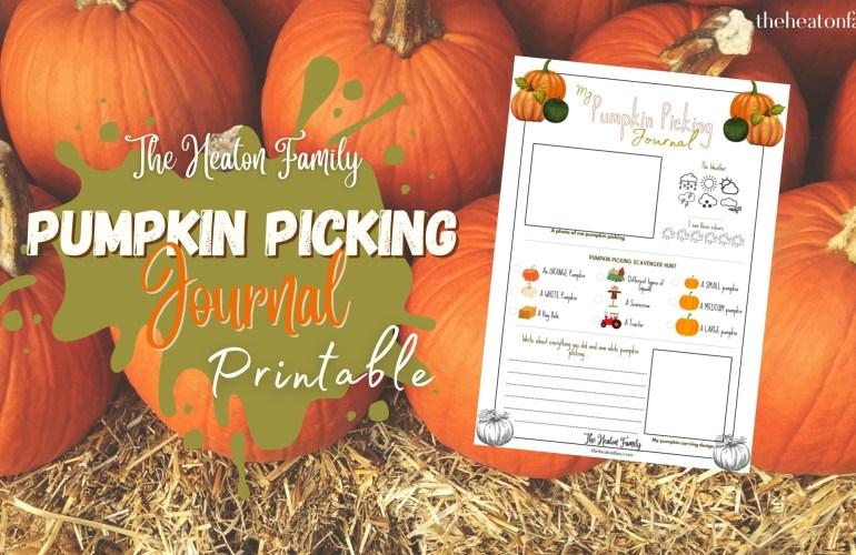 free pumpkin picking journal