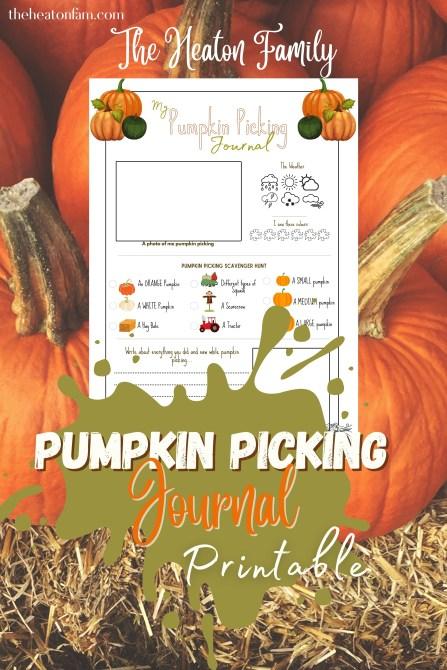 pumpkin picking journal printable