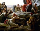 Sermon On the Mount by Carl Heinrich Bloch, Danish painter, d. 1890.