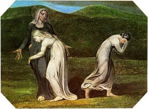 800px-Naomi entreating Ruth and Orpah to return to the land of Moab by William Blake, 1795