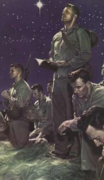http://commons.wikimedia.org/wiki/File:Marines_at_Prayer_by_Alex_Raymond.jpg