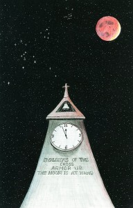 The Hour Is At Hand Clock-www.signsofheaven.org-share-&-share-alike license