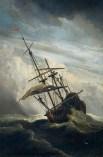 494px-De_Windstoot_-_A_ship_in_need_in_a_raging_storm_(Willem_van_de_Velde_II,_1707)