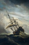 494px-De_Windstoot_-_A_ship_in_need_in_a_raging_storm_(Willem_van_de_Velde_II,_1707)