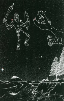 Orion Constellation and Dragon Constellation