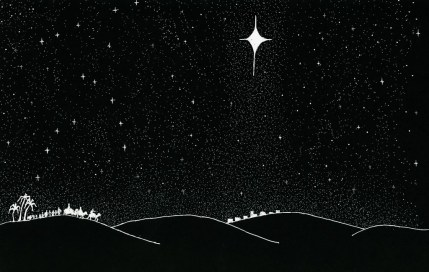 Wise Men (Magi) From East Follow Star To Bethlehem-www.signsofheaven.org-public domain release