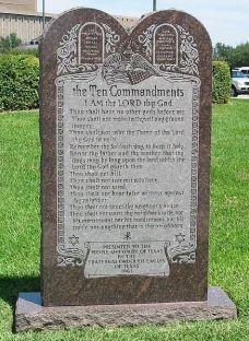 http://en.wikipedia.org/wiki/File:Ten_Commandments_Monument.jpg