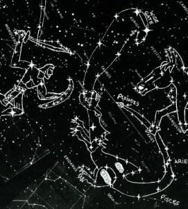 star chart orion & dragon