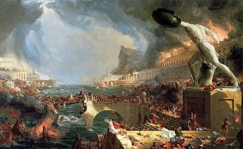 http://commons.wikimedia.org/wiki/File:Cole_Thomas_The_Course_of_Empire_Destruction_1836.jpg
