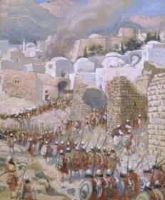 http://en.wikipedia.org/wiki/File:Tissot_The_Taking_of_Jericho.jpg