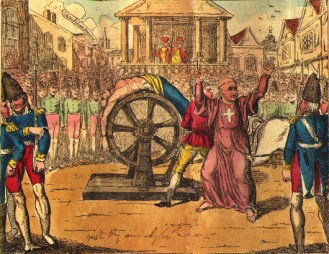 torture devices the wheel Calas Chapbook wikipedia US public domain