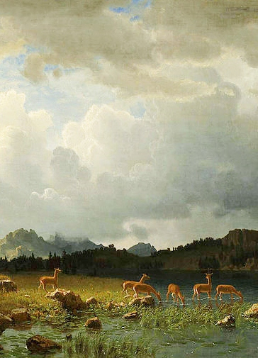http://commons.wikimedia.org/wiki/File:Albert_Bierstadt_-_Thunderstorm_in_the_Rocky_Mountains.jpg