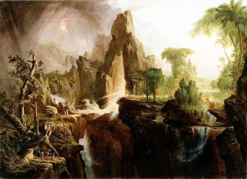 Cole Thomas - Expulsion from the Garden of Eden - 1828 - Boston Museum & Wikipedia - US Public Domain