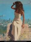 Woman in Mediterranian wikipaintings us public domain