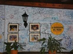 http://commons.wikimedia.org/wiki/File:Bodeguita_del_Medio,_Havana,_Cuba_2.jpg