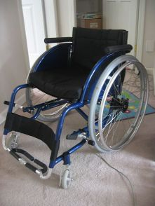 http://commons.wikimedia.org/wiki/File:Blue-lightweight-wheelchair.jpg