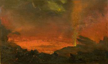 http://commons.wikimedia.org/wiki/File:David_Howard_Hitchcock's_oil_painting_'Halemaumau,_Lake_of_Fire',_1888.jpg
