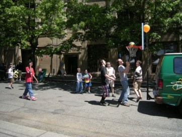 Children's Street basketball during a church fair - wikimedia share-alike license