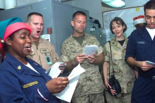 http://commons.wikimedia.org/wiki/File:US_Navy_021224-N-9867P-023_Sailors_and_Marines_sing_Christmas_carols.jpg