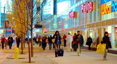 http://commons.wikimedia.org/wiki/File:Shoppers_on_Dundas,_near_Yonge.jpg