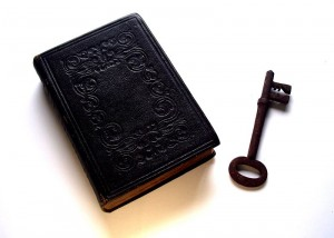 http://commons.wikimedia.org/wiki/File:Bible_and_Key_Divination.jpg