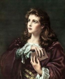 http://commons.wikimedia.org/wiki/File:Girl_with_a_Bible_(Faith_of_Our_Fathers).jpg